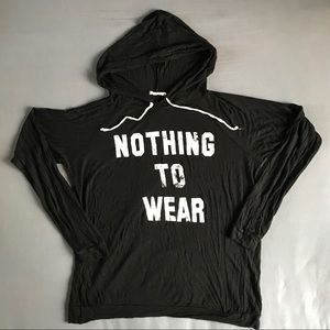 Nothing to Wear Hooded Shirt - L